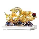 Decoración de equipo de vida Decoración de dragón transparente Decoración de dragón Zodiaco Feng Shui Estatua Riqueza Estatuilla Oficina Sala de estar Decoración de gabinete de vino Regalo de apert