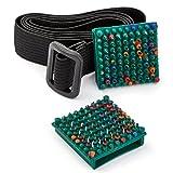 Lyapko Aplicador de acupuntura antiedad gota 3.5 Ag 64 agujas cada una. Herramienta de masaje de terapia plana cosmética. Masajeador de acupresión patentado único paquete de 2