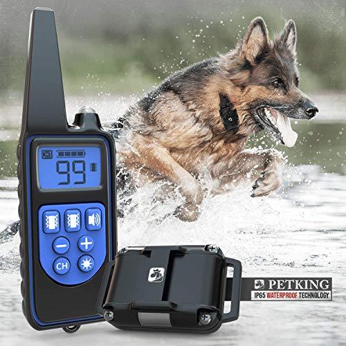 Addestramento Cani Collare Educativo per Cane Collare Antiabbaio per Cani Dispositivo Anti Abbaio Cane con Telecomando Collare Vibrazione Collari Educativi per Cani da Caccia Dog Training Collar