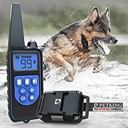 PetKing Premium Dog Training Collar with Remote for Small Large Dogs Anti Barking Device Anti Bark Collar Stop Barking Deterrent Devices