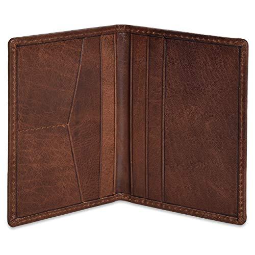 Portlee Brown Leather Unisex Card Holder (CHBF02)