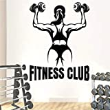 wZUN Fitness Club Wandtattoos Fitnessstudio Wort Vinyl