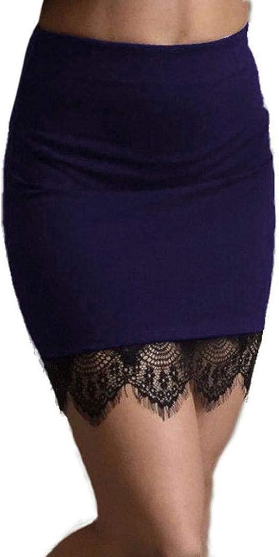 Women Hem Lace High Waist Mini Short Skirt Bodycon Wrap Pencil Hip Skirt
