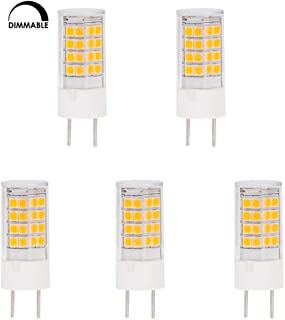 HERO-LED DG86-45S-WW27 Dimmable T4 GY8.6 LED Halogen Replacement Bulb, 3.5W, 35W Equivalent, Warm White 2700K, 5-Pack(Not Compatible with Leviton dimmers)