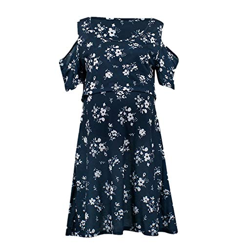 N\P Vestido multifuncional de color sólido para mujer embarazada de lactancia materna