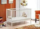 Culla In Legno Lettino Per Neonati Bambini Regolabile Rete Con Doghe In Legno 124 x 89 x 65 cm...