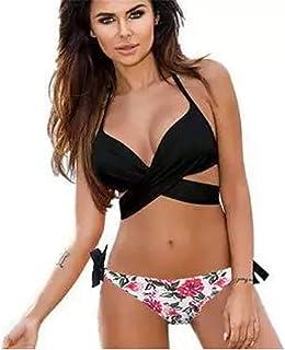 2d5dd90f80 YLYX Maillots De Bain 2 Pièces Femme Bikinis Dos Nu Rembourré Swimwear Sexy  Bikini Deux Pièces