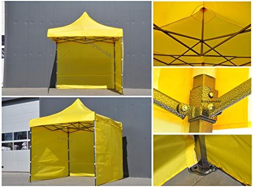 Bastionshop GAZEBO 3m x 4,5m waterproof GAZEBO MARKET STALL POP UP TENT Blue Black Green Beige Red Yellow White (Yellow)