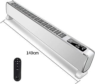 Calentador del zócalo: Calentador eléctrico de convección en el hogar, termostato Inteligente, Seguro para niños, termostato de Tres velocidades, Control Remoto Blanco 1.4 m