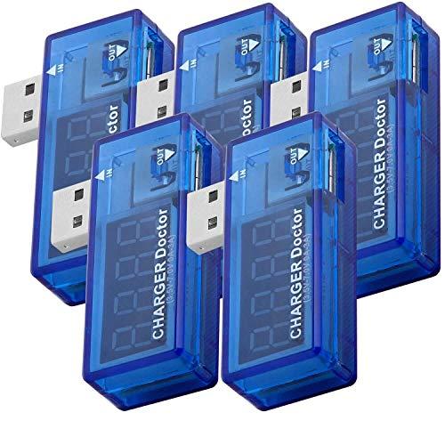 AZDelivery 5 x USB Charger Doctor Multimeter Ladegerät Detektor Stromverbrauchsmesser Spannungsmesser Digitaler Voltmeter