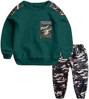 1-11 Años,SO-buts Niños Adolescentes Niños Bebés Carta De Otoño Invierno Chándal Tops Sudadera Pantalones De Camuflaje Con...
