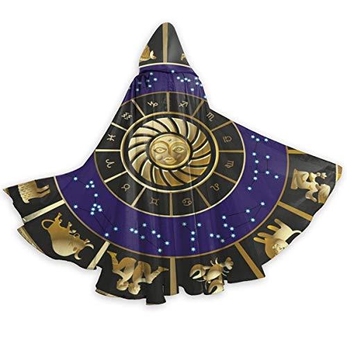 Capa De Pirata Constelaciones Astrologa Horscopo del Zodaco Navidad Fiesta Disfraces Cosplay Disfraces De Vampiro Talla Unica Disfraz De Halloween para Carnaval Fiesta Fiesta 150X40Cm