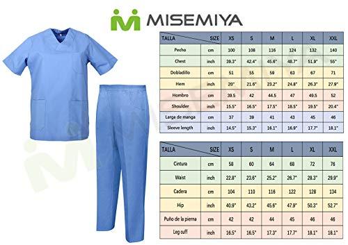 MISEMIYA - Casaca Y PANTALÓN Sanitarios Unisex Uniformes Sanitarios MÉDICOS Conjuntos Sanitarios 8178 - M, Negro