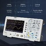 JIYAMI'EN EL S.S Hhua Osciloscopio Digital 2CH 20M Hz 7 Pulgadas LCD Pantalla de visualización 100ms / s Tasa de muestreo 20MHz (Plug Type : EU)