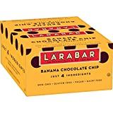 Larabar Fruit and Nut Bar Banana Chocolate Chip, Gluten Free, Vegan, 16 ct...