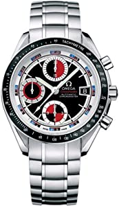 Omega Men's 3210.52.00 Speedmaster Date Black & Red Automatic Chronometer Chronograph Watch image