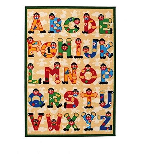 Sevi 60531 - Tappeto con lettere dell'alfabeto, 140 x 100 cm