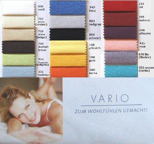 Primera Hochwertige Jersey Spannbettlaken Vario, weiß, 90/100 x 190/200