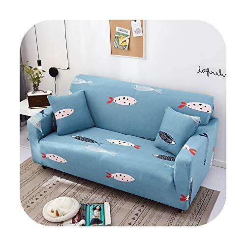 Sofacover - Funda elástica seccional elástica para sofá de sala de estar, funda de sillón en forma de L, funda para sillón individual, dos, tres asientos, color 9-4 plazas, 235-300 cm