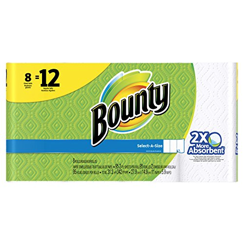 Price comparison product image Bounty Select-A-Size Paper Towels,  White,  Giant Roll