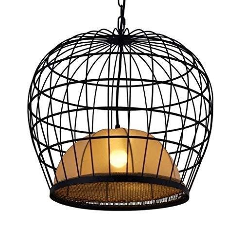 Wlnnes Hierro retro jaula colgante Luz esférica colgante de luz, cordón ajustable Granja de la lámpara de techo pendiente de la luz E26 / E27 base for Isla de cocina Comedor granja Puerta de entrada F