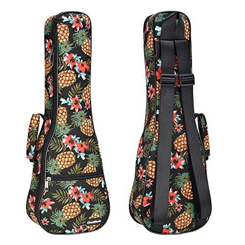 CLOUDMUSIC Ukulele Case Pineapple Ukulele Backpack 10mm Padding (Soprano)