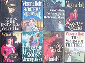 Lot of 8 Victoria Holt (Hardback W Jacket) Secret for a Nightingale, Time of the Hunters Moon, Silk Vendetta, Spring of th...