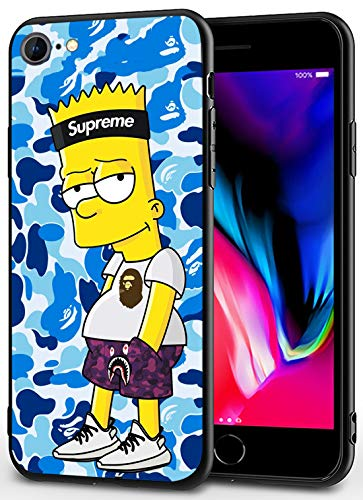 iPhone 7/8/SE 2020 Case - Cute Anime Design Ultra-Thin Cover Cases for iPhone 7/8/SE2020 4.7' (Bart-Camo-Simpson)