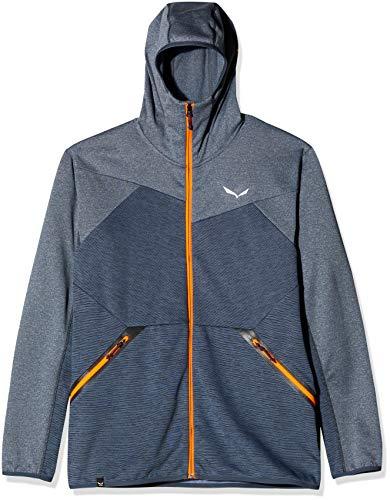 SALEWA Herren Pullover und Sweatshirts PUEZ Melange Pl M Fz Hdy, Premium Navy Melange, 48/M