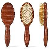 Hair Brush, BESTOOL Wooden Hair Brushes for Women Men Kid, Detangler Brush for No-Pain Detangling All Wet or Dry Hair, Massage Scalp, Anti-static, Healthy Hair Growth
