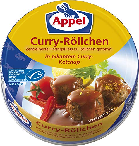 Appel Curryröllchen, 12er Pack Konserven, Fisch in Curry-Ketchup