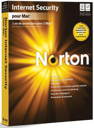 Norton Internet Security version 4.1 pour Mac (2 postes, 1 an)