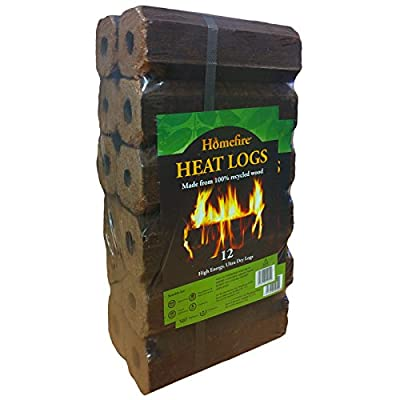 Homefire High Energy Ultra Dry Heat Logs Open Fire Log Eco Wood Fuel