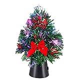 Casaria Mini Albero di Natale Illuminazione LED con luci e Supporto Abete Artificiale USB 26cm addobbato e Decorato Ufficio vetrine