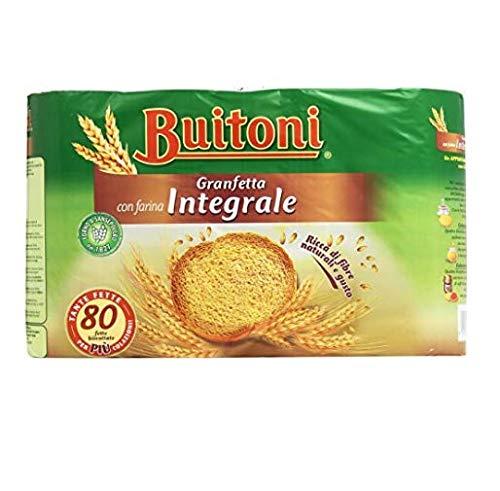 Buitoni Granfetta Fette Biscottate Integrali mit Vollkornmehl 80 fette Vollkorn Zwieback Kekse 600g