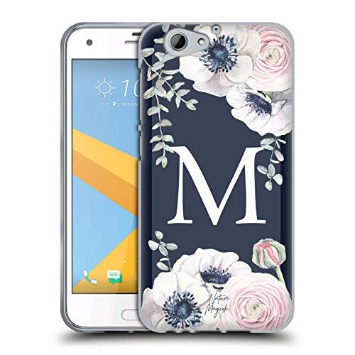 Head Hülle Designs Offizielle Nature Magick Buchstabe M Monogramm Blumig Navy Blumen 1 Soft Gel Huelle kompatibel mit HTC One A9s