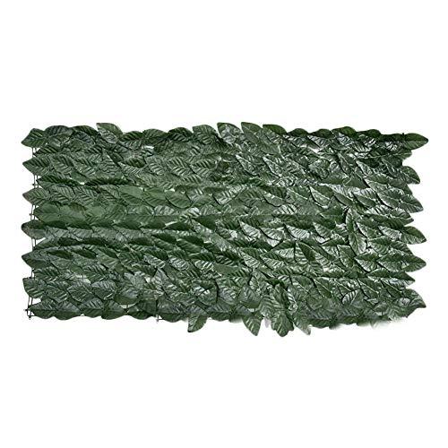 Cuttey 50 X 100 cm Künstliche Sichtschutzplatten, UV-Schutzgitter Aus Kunststoff-Topiary-Heckenpflanzen Mit Kabelbindern Für Gartenzaun Im Hinterhofbalkon