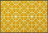 Wash + Dry Henrietta Fußmatte, Acryl, gelb, 50 x 75 x 0.7 cm
