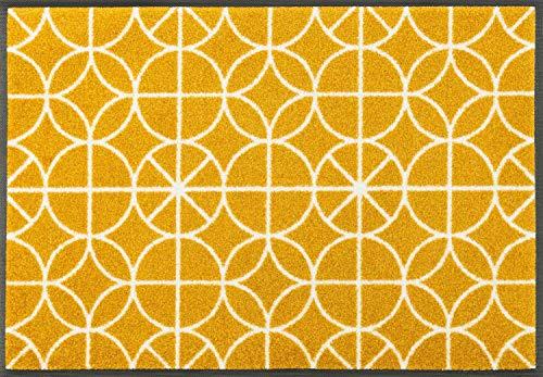 Wash&Dry 088479 Henrietta Fußmatte, Acryl, Gelb, 50 x 75 x 0.7 cm