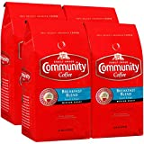 Community Coffee Breakfast Blend Medium Roast Coffee, Ground, 32 Ounce Bag (Pack of 4)