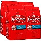 Community Coffee Breakfast Blend Medium Roast Coffee, Ground, 32 Ounce Bag (Pack of 4)