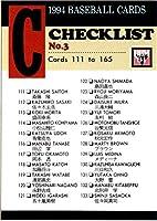 BBM1994 ベースボールカード レギュラーカード No.165 チェックリスト3