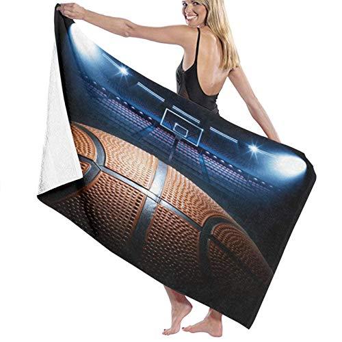 Grande Suave Ligero Microfibra Toalla de Baño Manta,Cool Basketball Arena,Hoja de Baño Toalla de Playa por la Familia Hotel Viaje Nadando Deportes Decoración del Hogar,52' x 32'