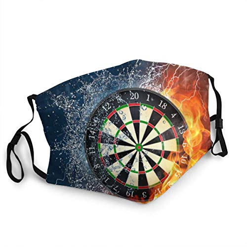 Breathable Face Masks Dart Board Game Ice Fire Unisex Mouth Cap Washable Reusable Anti-dust Neck Gaiters 1 Piece