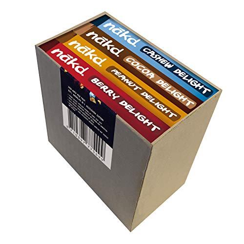 nakd. Mix-Pack Frucht- & Nussriegel - 4 Sorten - Peanut, Cocoa, Berry & Cashew, 560 g, 77549
