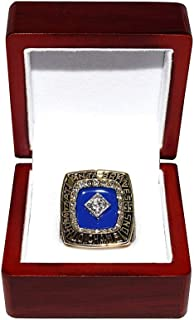 ATLANTA BRAVES (Tom Glavine) 1995 WORLD SERIES CHAMPIONS (Team of the 90s) Vintage Rare & Collectible High-Quality Replica Baseball Gold Championship Ring with Cherrywood Display Box