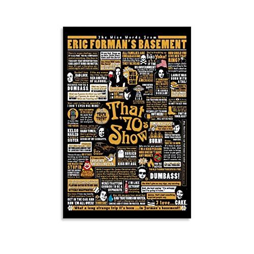 GTDF 70s Show Posters Leinwand Kunst Poster und Wandkunst Bilddruck Moderne Familienzimmer Dekor Poster 24x36inch(60x90cm)