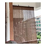 GAXQFEI Exterior Sun Shade Sail, Breathable Fabric Privacy <span class='highlight'><span class='highlight'>Sn</span></span> Isolation Panel, Filter Light for Porch Pergola, with Pull Hook,Brown,70 * 80Cm