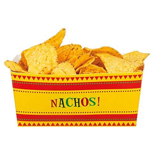 PARTY DISCOUNT Nacho Schalen Fiesta, 4 Stück, 14x7x7cm