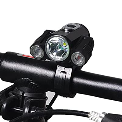 Bike Light LED Bright Headlight Headlamp Flashlight Torch 4 Modes 3 CREE XM-L2 T6 Camping, Running, Hiking and Reading,Cycling Safety Bicycle lights 3000 Lumens LED Front Light